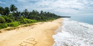 Signs on a deserted island